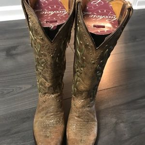 Lucchese Tan studded boots